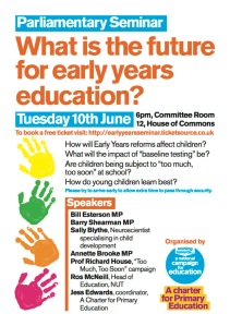 14-Jun-10 early years seminar in parliament