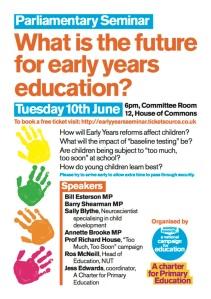 14-Jun-10 early years seminar in parliament