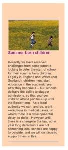 Norfolk CC on Summer Born Children pg 1
